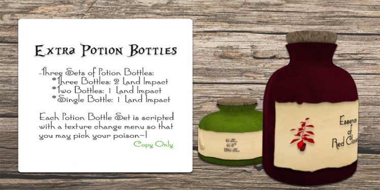 Extra Potion Blottles Ad